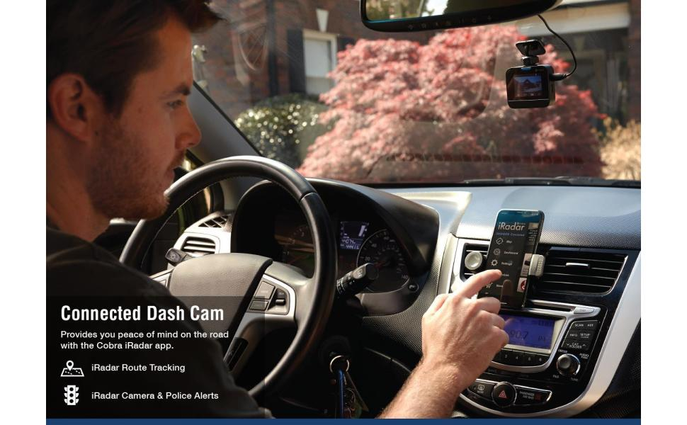 Cobra DASH2316D Connected Dual Dash Camera w/ Live Streaming Alerts from  the Cobra / ESCORT Driver Network